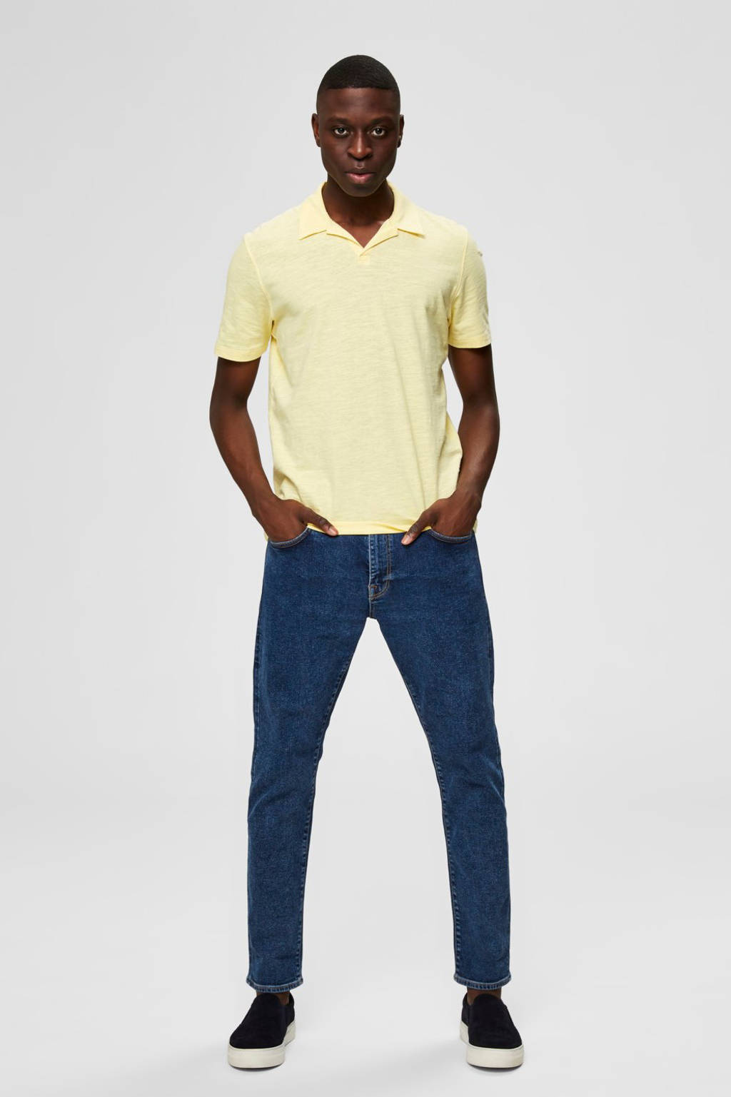 SELECTED HOMME regular fit polo lichtgeel, Lichtgeel