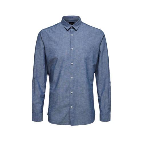 SELECTED HOMME slim fit overhemd met biologisch ka