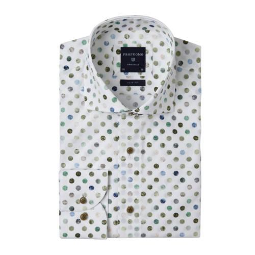 Profuomo slim fit overhemd met all over print mult