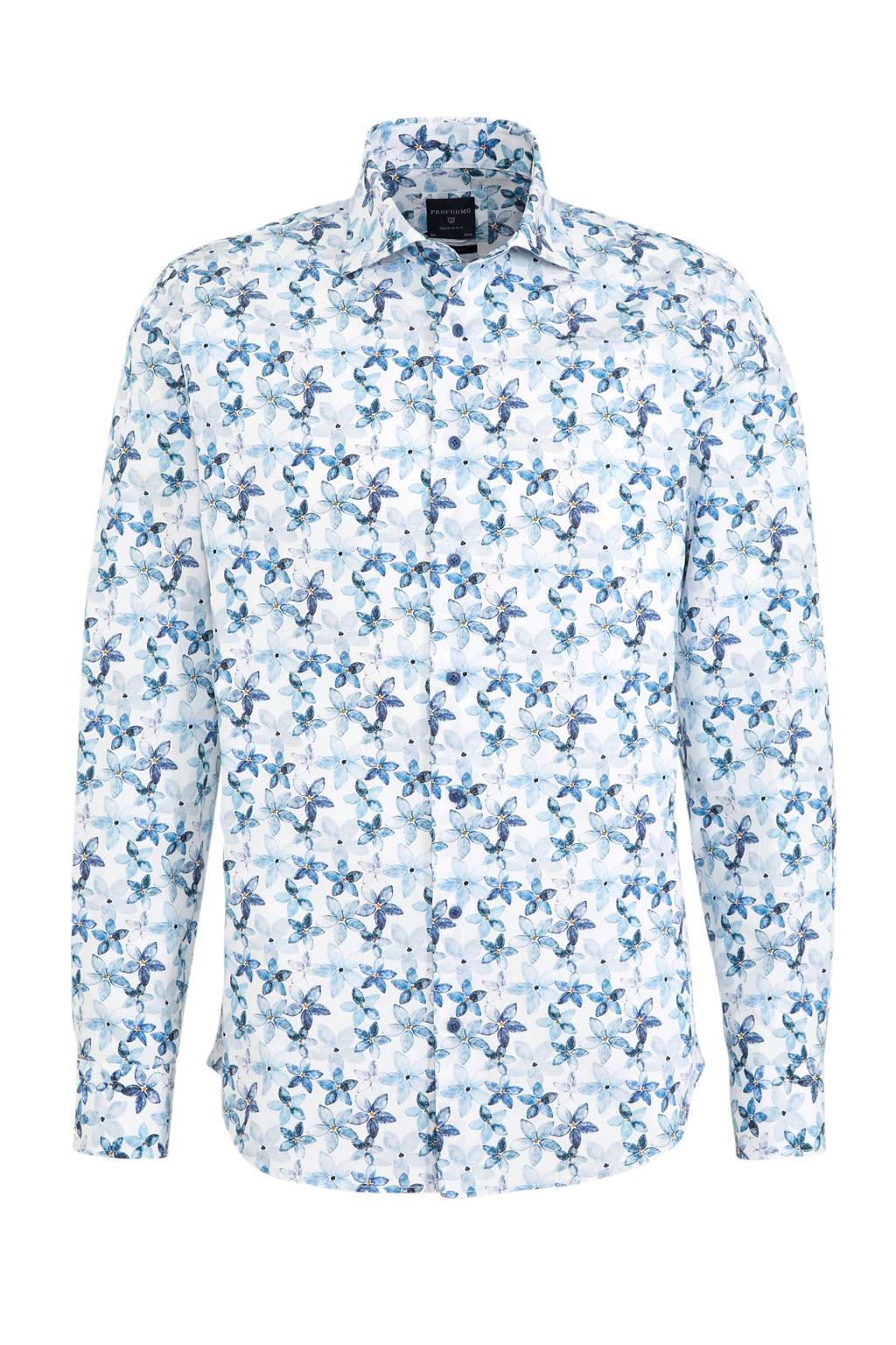Profuomo slim fit overhemd Cutaway met all over print multi, Multi
