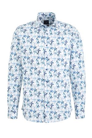 slim fit overhemd Cutaway met all over print multi