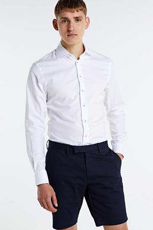 slim fit overhemd Cutaway wit