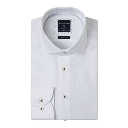Profuomo slim fit overhemd Cutaway wit