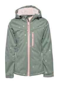 Scapino Mountain Peak jas met sterrenprint mintgroen/roze, Mintgroen/roze