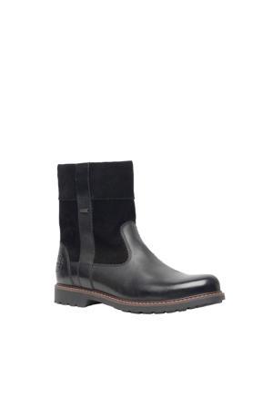 Hush Puppies   leren boots zwart