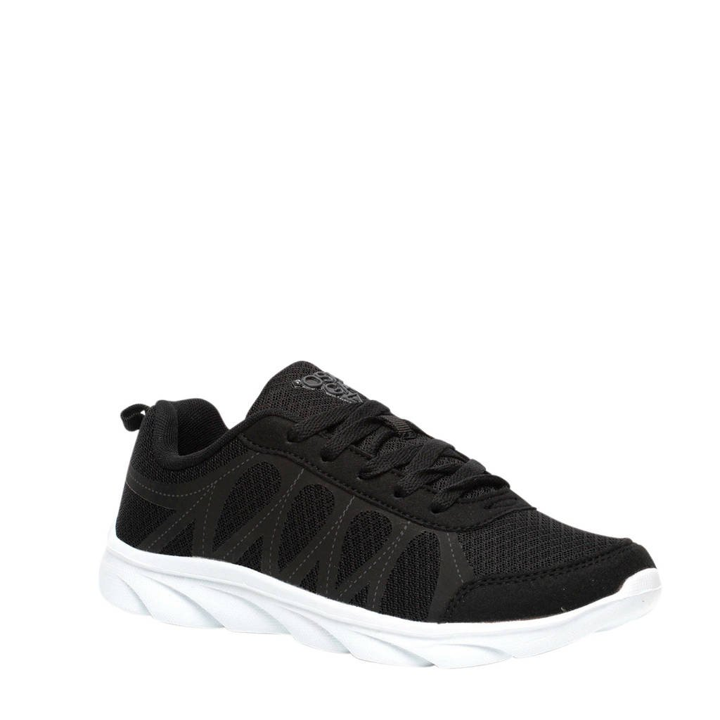 Scapino Osaga   hardloopschoenen zwart, Zwart/wit