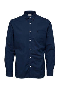 Selected Homme +Fit slim fit overhemd donkerblauw, Donkerblauw