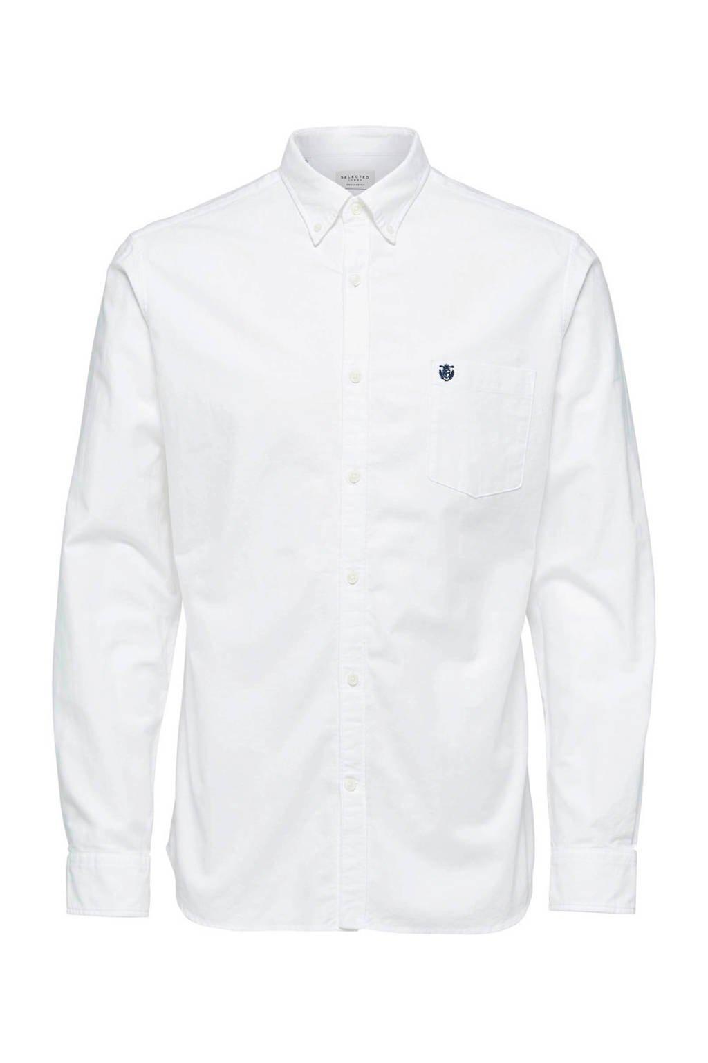 Selected Homme +Fit regular fit overhemd wit, Wit
