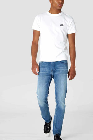 slim fit jeans Charles myle worn