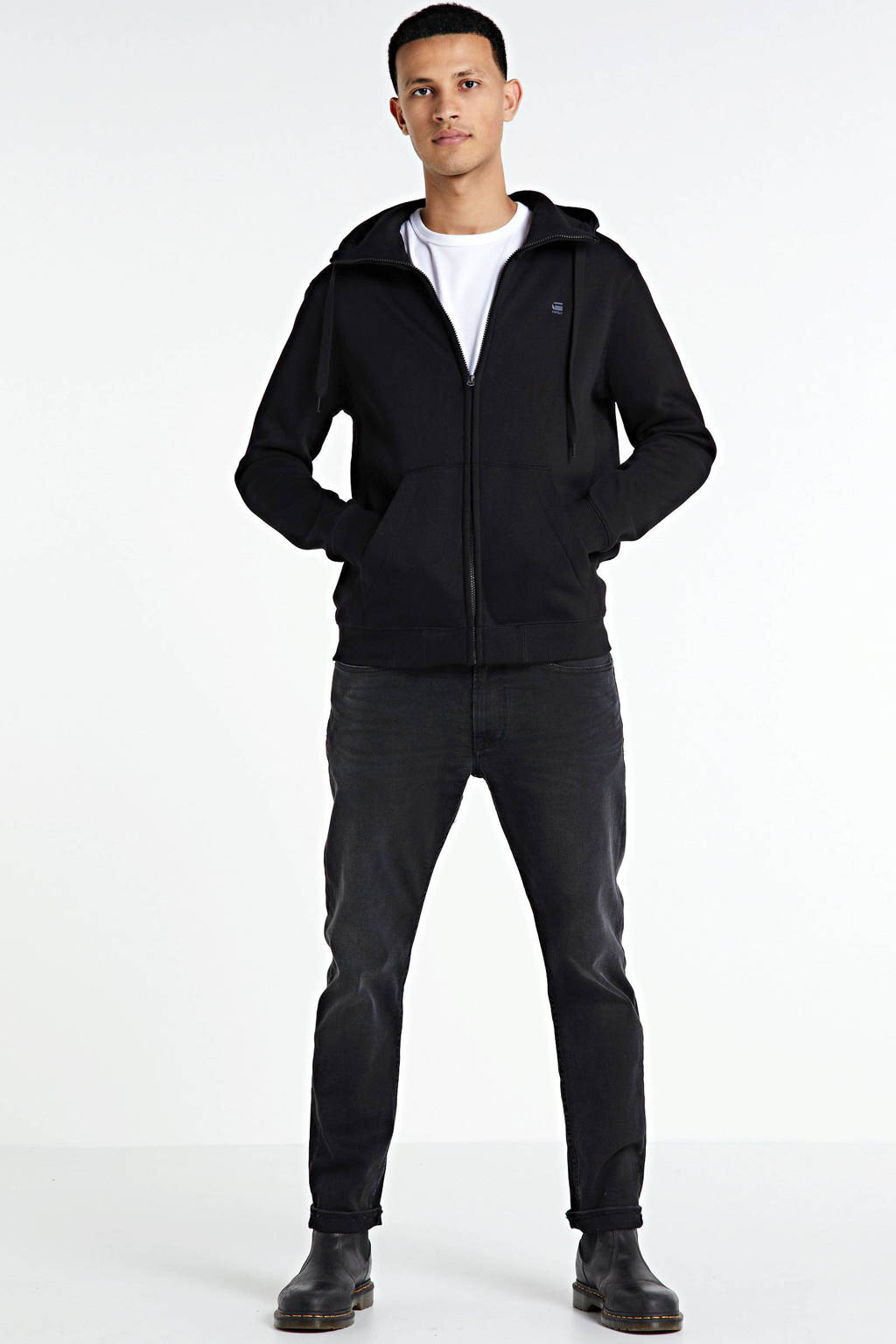 Kings of Indigo slim fit jeans black used, Black used