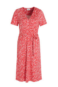 FREEQUENT jurk met all over print rood, Rood