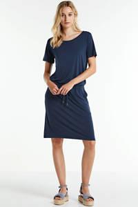 FREEQUENT jersey jurk met ceintuur donkerblauw, Donkerblauw