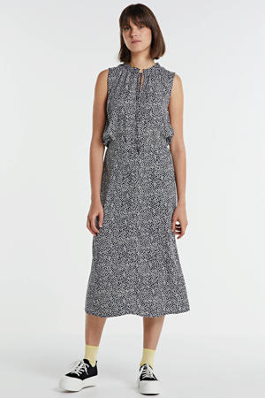 rok met all over print lichtblauw