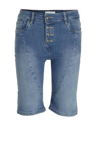 FREEQUENT high waist jeans short blauw, Blauw