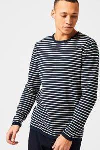 America Today gestreepte sweater navy/ecru, Navy/ecru