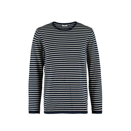America Today gestreepte sweater navy/ecru