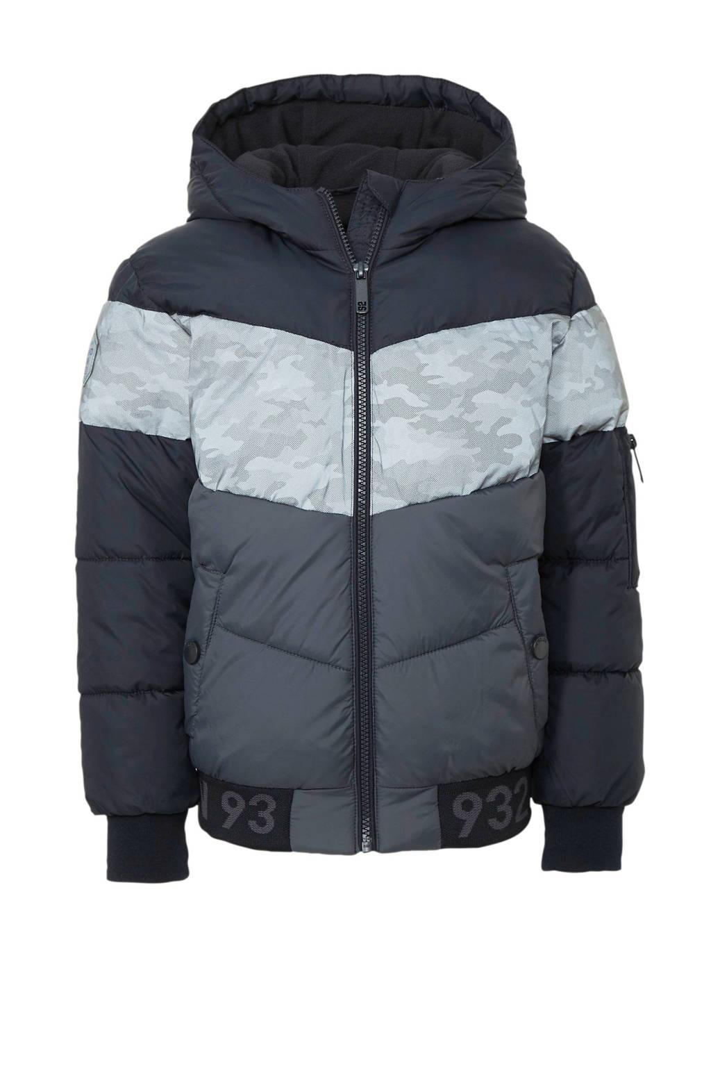 C&A Here & There winterjas met camouflageprint zwart/grijs, Zwart