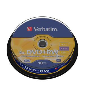 DVD+RW 4.7 GB Matt Silver 10 stuks