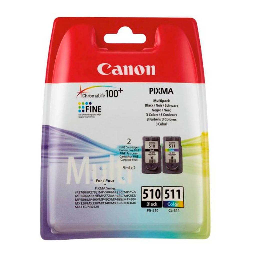 Canon PG-510/CL-511 multipack inktcartridge, Zwart,cyaan, geel, magenta