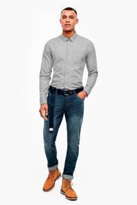 Q/S designed by regular fit overhemd met all over print grijs, Grijs