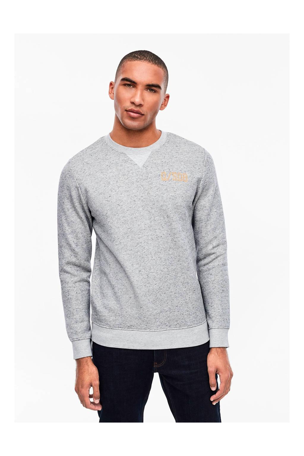 Q/S designed by gemêleerde sweater grijs, Grijs