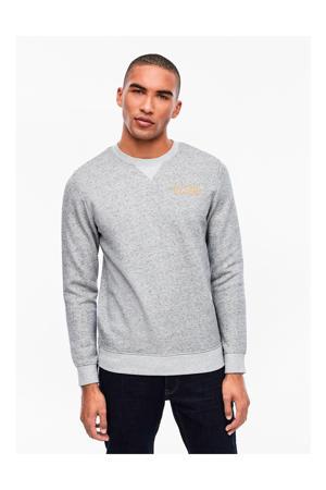 gemêleerde sweater grijs
