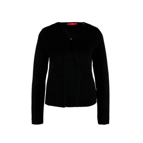 s.Oliver jasje met textuur zwart