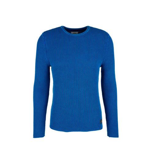 Q/S designed by gem??leerde trui blauw