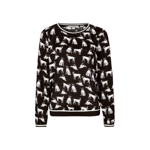 comma casual identity longsleeve met all over prin