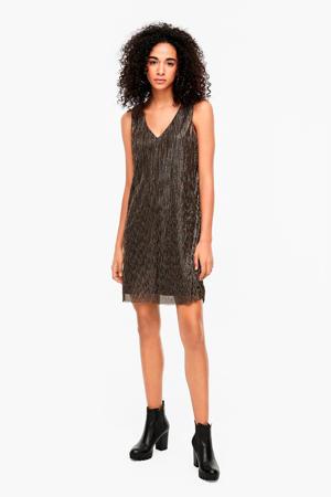 semi-transparante jurk met glitters goud/zilver