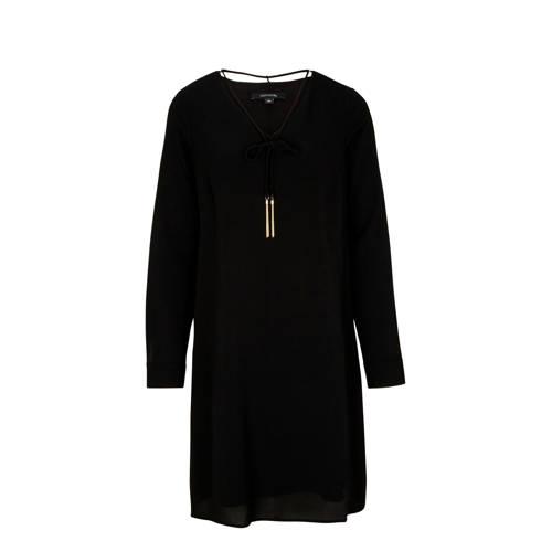 comma jurk zwart