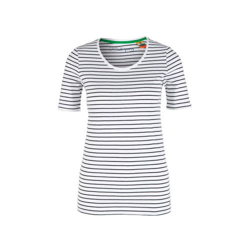 s.Oliver gestreept T-shirt wit/zwart