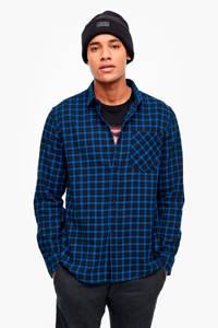 Q/S designed by geruit overhemd blauw, Blauw