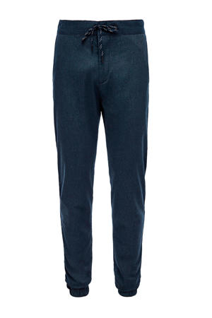 slim fit joggingbroek donkerblauw