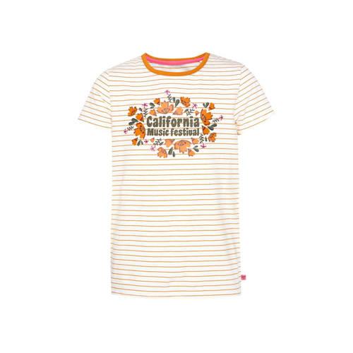 WE Fashion gestreept T-shirt oranje