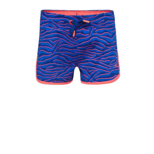 WE Fashion sweatshort met zebraprint blauw