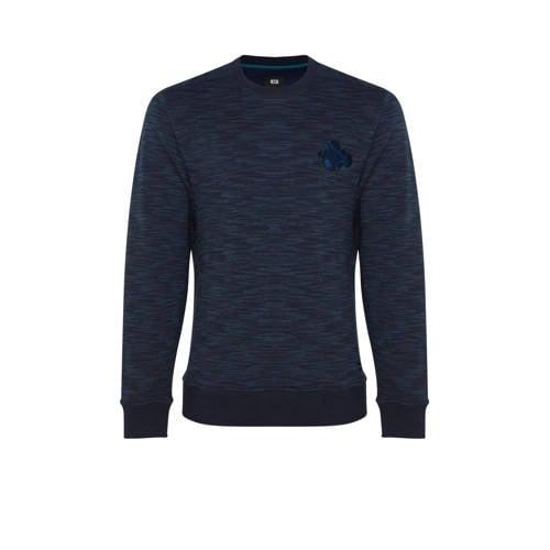 WE Fashion gem??leerde sweater petrol blue