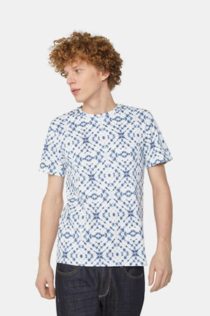 T-shirt met all over print new ivory