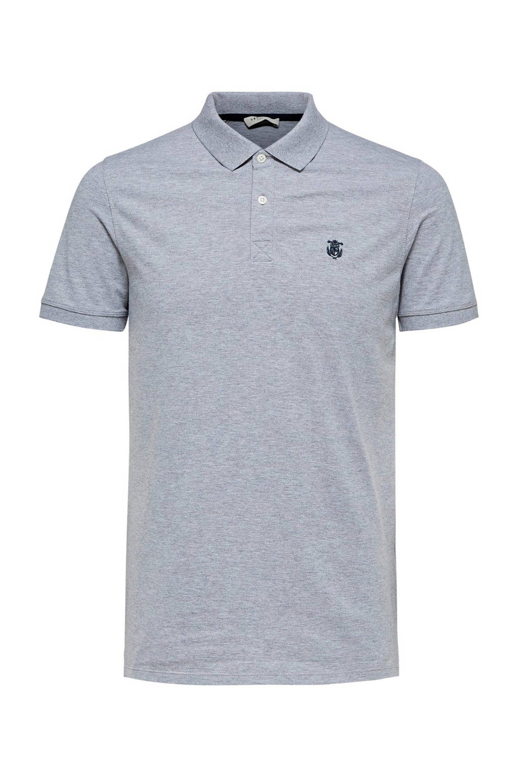 Selected Homme +Fit regular fit polo grijs, Grijs