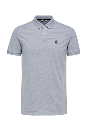 regular fit polo grijs
