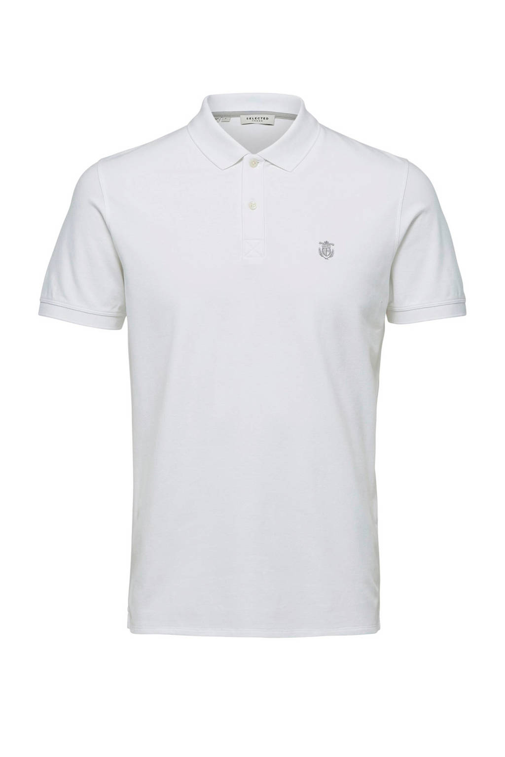 Selected Homme +Fit regular fit polo wit, Wit