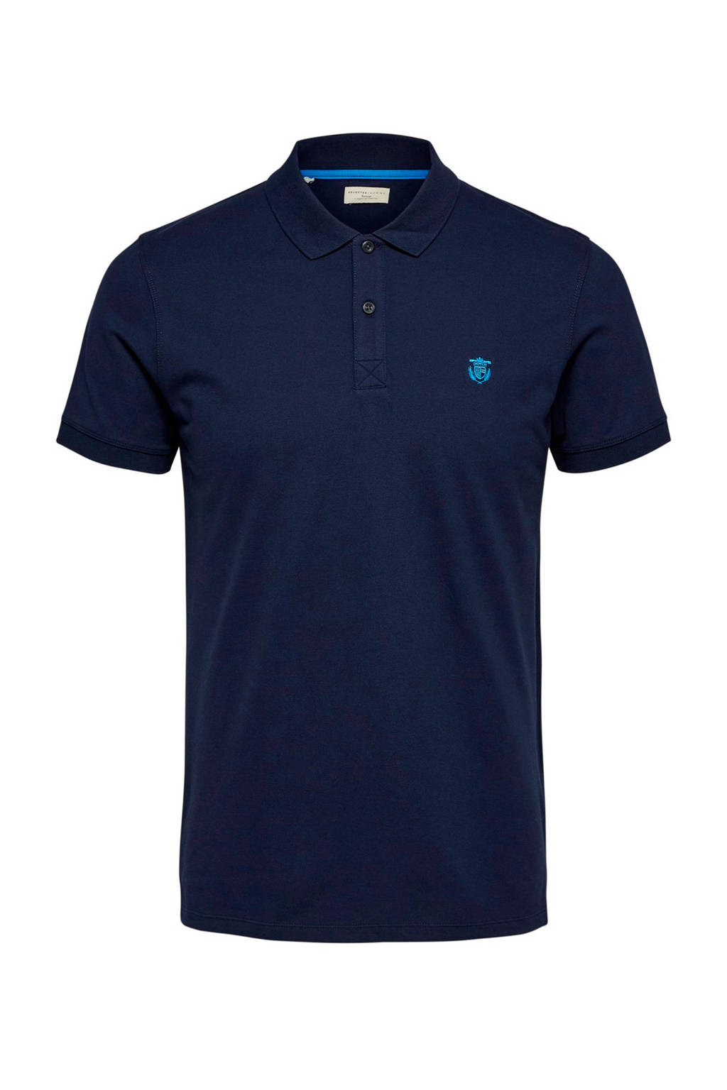Selected Homme +Fit regular fit polo blauw, Blauw