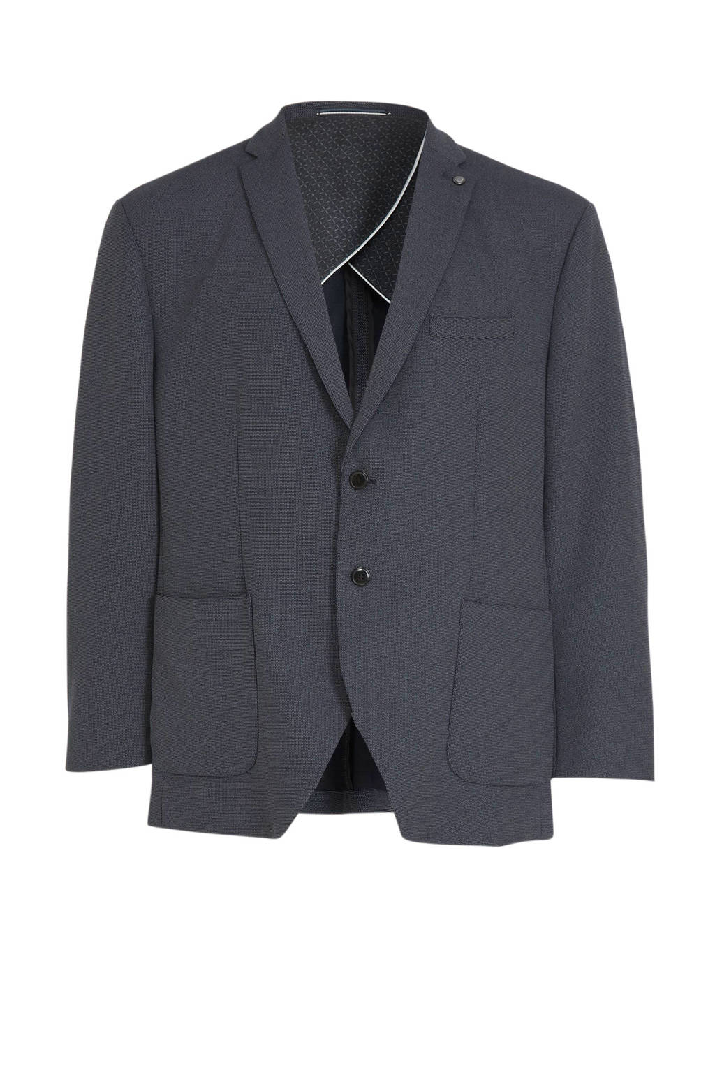 Selected Homme +Fit regular fit colbert donkerblauw melange, Donkerblauw