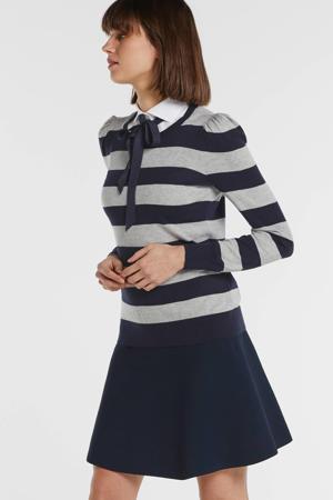gestreepte trui Zarita donkerblauw/grijs