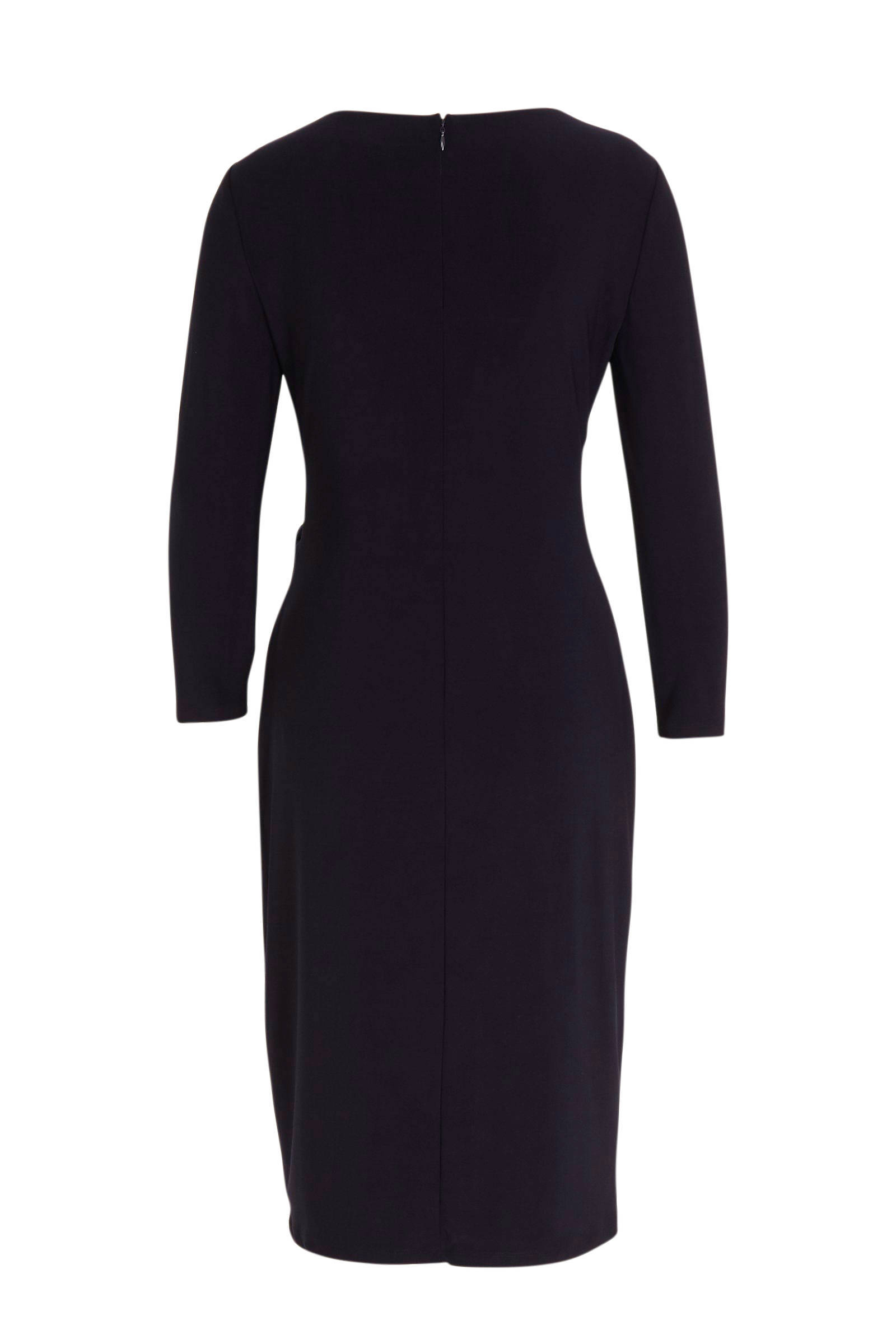Lauren Ralph Lauren jurk Robbyann en plooien donkerblauw/ecru