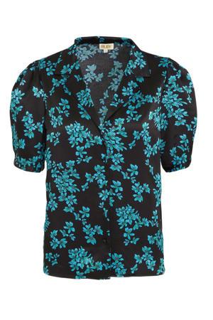 satijnen blouse met bloemenprint