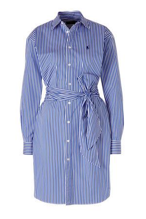 gestreepte blousejurk blauw/wit