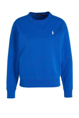 longsleeve met logo blauw