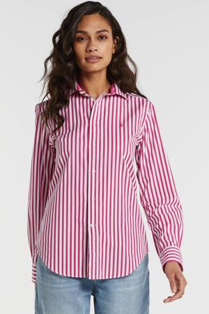 gestreepte blouse roze/wit