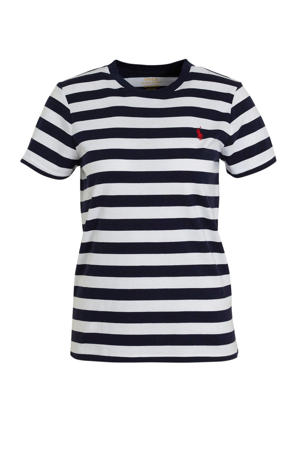 gestreept T-shirt donkerblauw/wit
